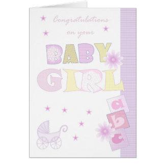 Congratulations Baby Girl Card, New Baby Card