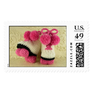 Congratulations Baby Girl (Roller Skates Booties) Postage