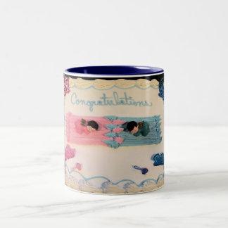 Congratulations Baby! Two-Tone Coffee Mug