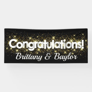 engagement banners signs zazzle