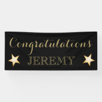Congratulations banner for any occasion gold stars