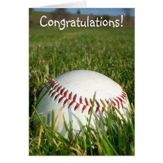 Congratulations baseball greeting card