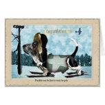 Congratulations basset hound card