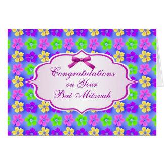 Congratulations, Bat Mitzvah Card