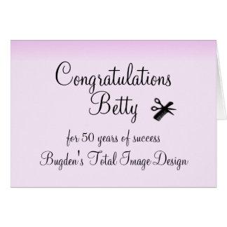 Congratulations Beautician Custom Card