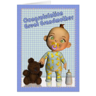 moonlake congratulations becoming a Great Grandmother Card