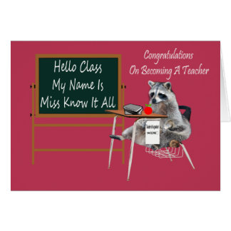 Congratulations Becoming A Teacher Greeting Card