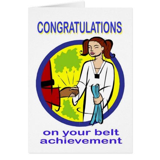 Congratulations Belt Achievement Card | Zazzle