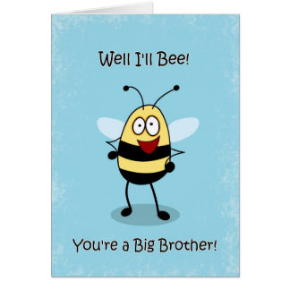 Congratulations Big Brother Bumble Bee Card