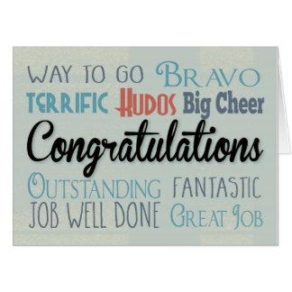 Congratulations Big Card - Go Large