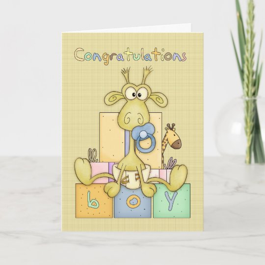 congratulations birth of baby boy card cute baby