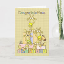 Congratulations Birth Of Triplets Greeting Card