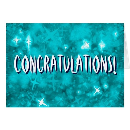 Congratulations blue starry greeting card