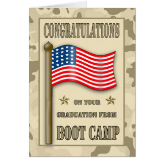 Congratulations Boot Camp Graduation Greeting Card