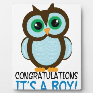 Congratulations Boy Display Plaques