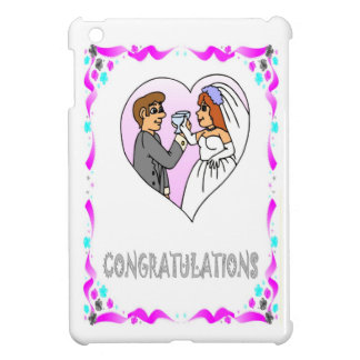 congratulations, bride and groom cover for the iPad mini