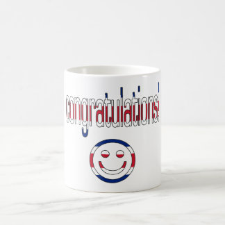 Congratulations! Britain Flag Colors Coffee Mug