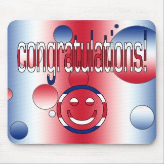 Congratulations! Britain Flag Colors Pop Art Mouse Pad