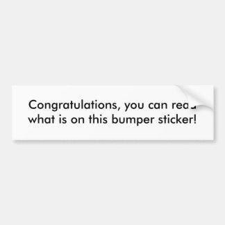 Congratulations Bumper Sticker Car Bumper Sticker