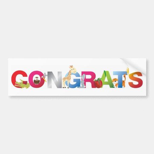 Congratulations Bumper Stickers