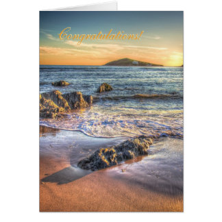 Congratulations - Burgh Island from Bantham Greeting Card