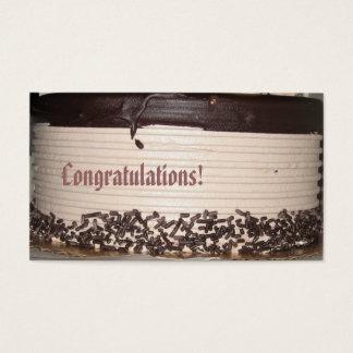 Congratulations Business Card