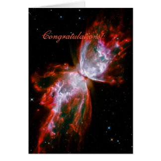 Congratulations - Butterfly Nebula in Scorpius Card
