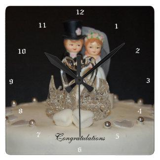 """""""Congratulations"""" by mysteryella Reloj Cuadrado"""