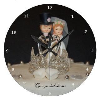 """Congratulations"" by mysteryella Reloj Redondo Grande"