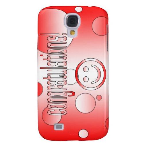 Congratulations! Canada Flag Colors Pop Art Samsung Galaxy S4 Case