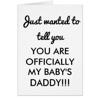 CONGRATULATIONS CARD BABY DADDY NEW DAD CARD