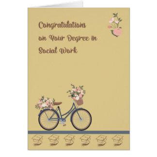 Congratulations Card Degree in Social Work
