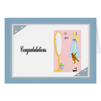 Congratulations Card, Expecting a New Baby Drawing Card