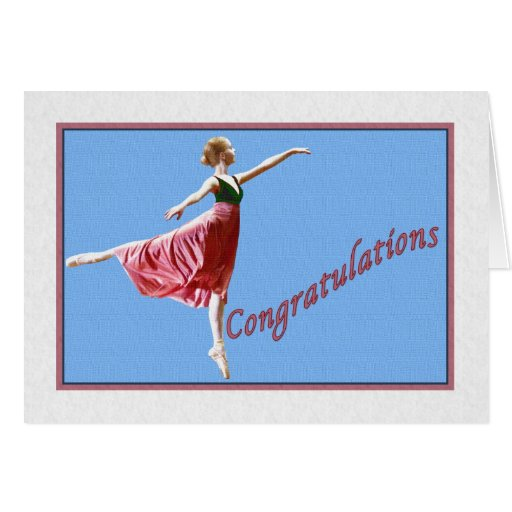 Congratulations Card for Dance Recital