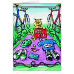 Congratulations Card for Triathlete - Keep Off