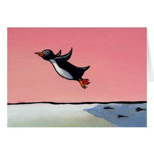 Congratulations card penguin art Eternal Optimist