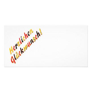 Congratulations card photo greeting card