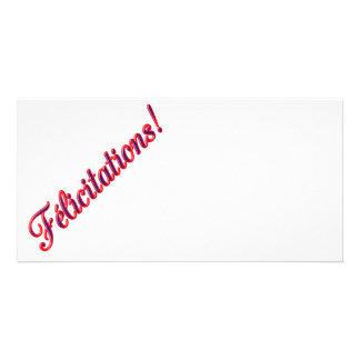 Congratulations card photo card