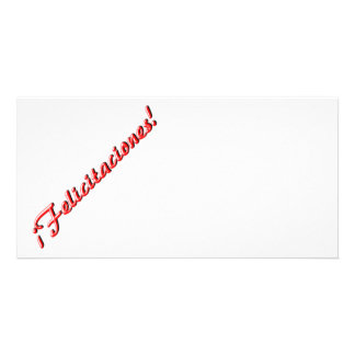 Congratulations card personalized photo card
