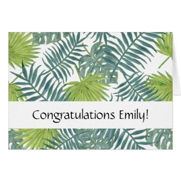 Beach Themed Congratulations card tropical palm beach art