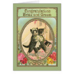 Congratulations Cat Bride and Groom Wedding Day Greeting Card