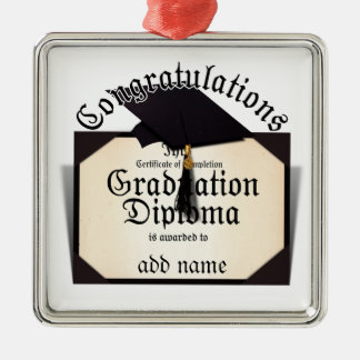 Congratulations Certificate of Completion Diploma Christmas Tree Ornament