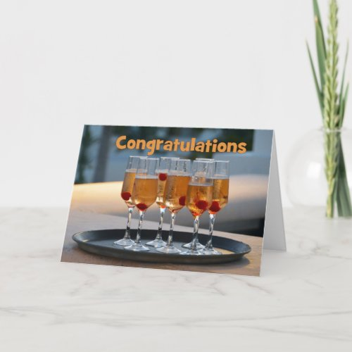 Congratulations Champagne to Newly Weds Card
