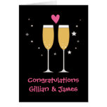 Congratulations champagne toast card