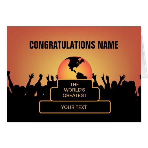 Congratulations Cheers Greatest Award Card Zazzle