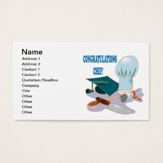 Congratulations Chef Business Card