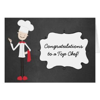 Congratulations Chef Cook Graduation Greeting Card