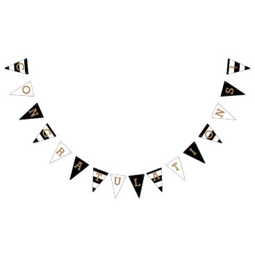origamiprints Congratulations | Chic Stripes Bunting Flags