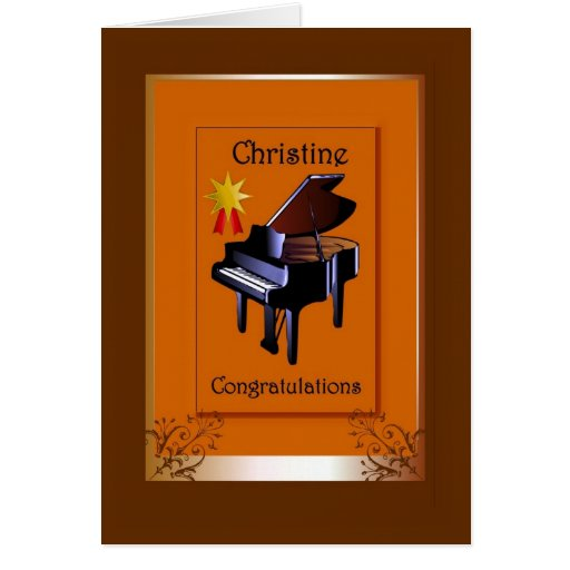Congratulations Christine Greeting Cards