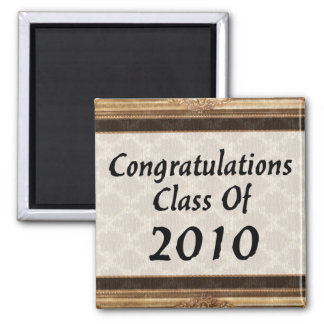 Congratulations Class Of 2010 2 Inch Square Magnet